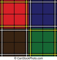 set of plaid fabric patterns