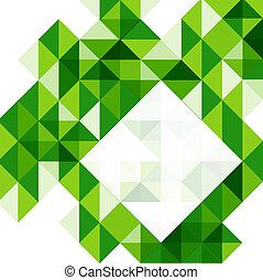 Green modern geometric design template - Blue modern...