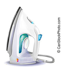 realistic illustration of steam iron