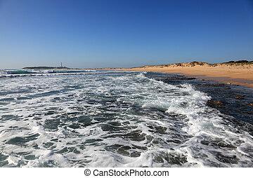 Atlantic ocean beach in El Palmar, Costa de la Luz,...