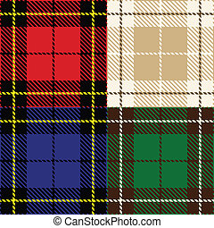 set of plaid fabric