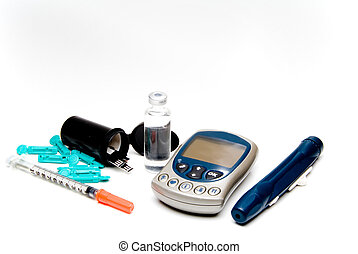 Diabetic Meter - A diabetics test meter and finger prick...