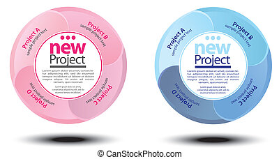 Circle project scheme,diagram - Vector image for various...