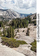 Sierra Nevada - Olmsted Point of Yosemite NP onTioga Road