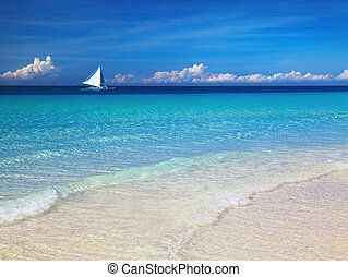 Tropical beach, Philippines - Tropical beach, Boracay...