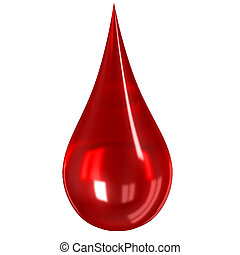 Glass blood drop isolated