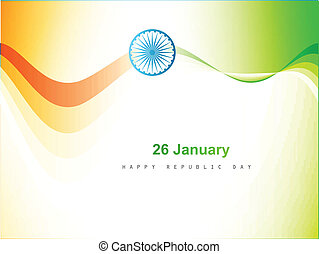 Indian flag color wave design art background vector