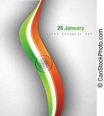 Indian flag stylish tricolor wave vector design