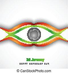 fantastic Indian Flag wave background design
