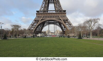Eiffel Tower in Paris. Horizontal/landscape orientation.