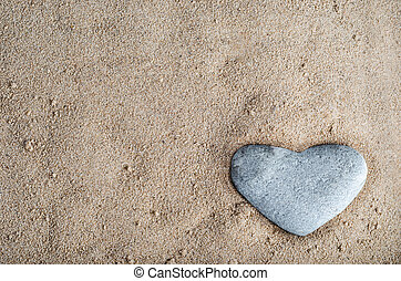 Stone Heart in Sand