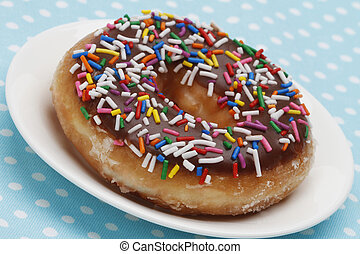 Colorful Doughnut - A doughnut with multicolored sprinkles...