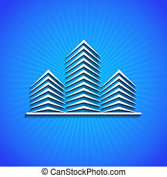 Vector icon on blue background Eps10