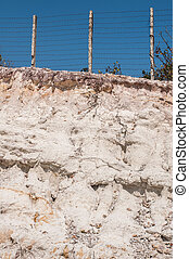 Section of soil in the Mountain and Fence