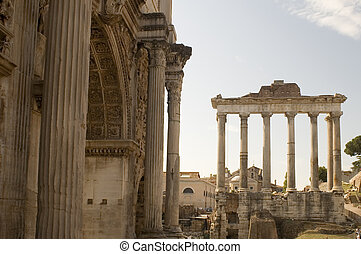 column on roman forum - Italy Older column on roman forum