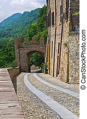 Alleyway CastellArquato Emilia-Romagna Italy