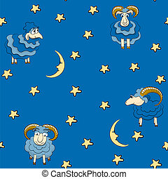 Seamless pattern with sheep