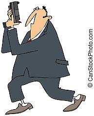 Secret Service agent - This illustration depicts a Secret...