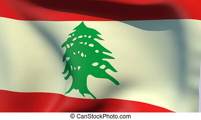 Flag of Lebanon - Flags of the world collection - Lebanon