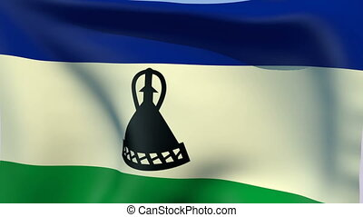 Flag of Lesotho - Flags of the world collection - Lesotho