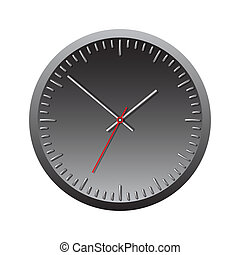 Black wall mechanical clock.
