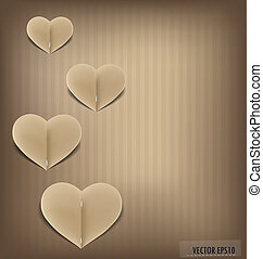 Paper heart shape symbol for Valentines day with copy space...