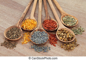 Naturopathic Herbs - Naturopathic healing herb selection in...