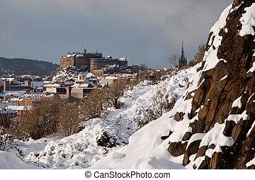 Edinburgh Castle from Holyrood Park