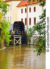 Watermill - Old Watermill In The Centre Of Prague, Czech...