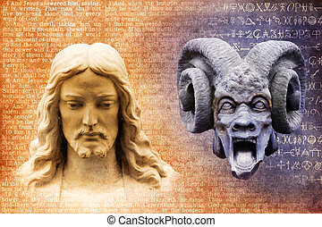 Jesus Christ and Satan the Devil - Jesus and the devil...