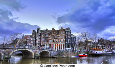 Amsterdam canal timelapse - Beautiful Full HD timelapse of...