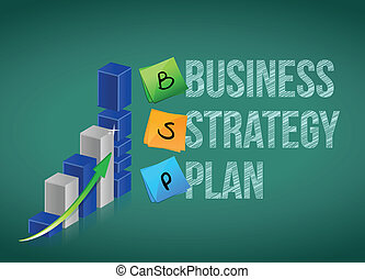 Business strategy plan, illustration design over white