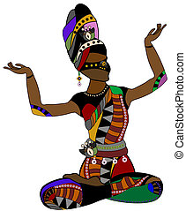 ethnic woman - Woman in ethnic style dancing his religious...