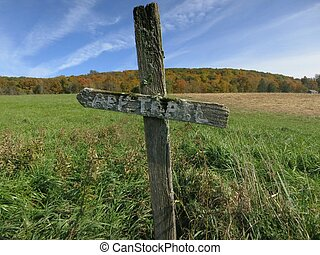 Appalachian Trail Marker - An old weather worn Appalachian...