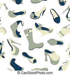 Footwear seamless pattern