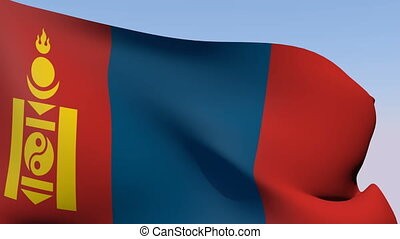 Flag of Mongolia - Flags of the world collection - Mongolia