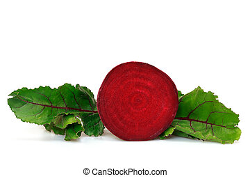 beet over white background