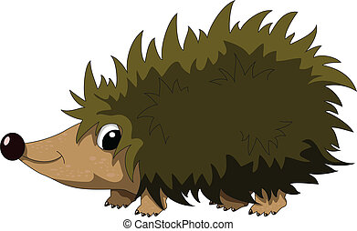cute hedgehog cartoon - vector illustration of cute hedgehog...