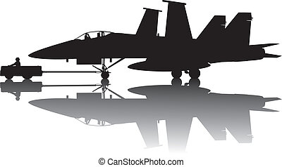 Military aircraft silhouette - Naval aircraft transporting...