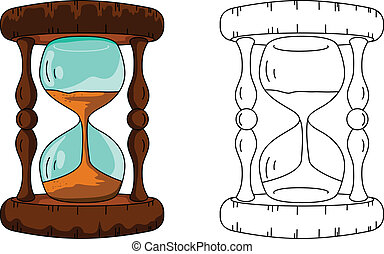 hour glass - vector illustration of hour glass