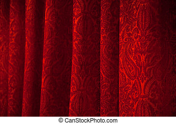 Red theater curtain - red theater curtain with soft lighting