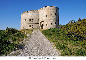 Fortress from 18th century - Fortress Arza on the peninsula...