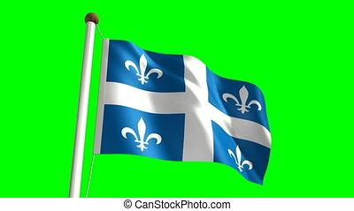 Quebec flag video seamless green screen