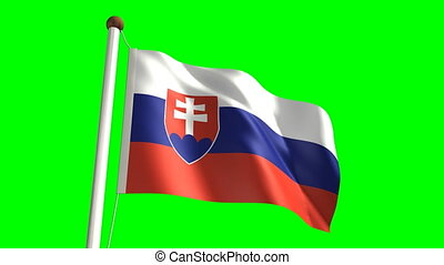 Slovakia flag video seamless green screen