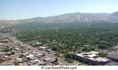 aerial shot of Salt Lake City