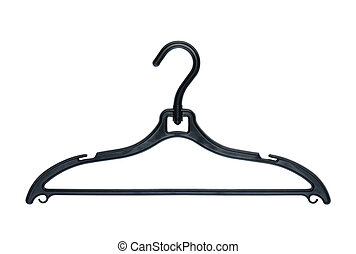 Clothes hanger on white background.