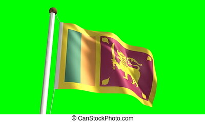 Sri Lanka flag video (seamless & green screen)