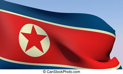 Flag of North Korea - Flags of the world collection - North...