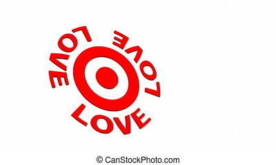 Love Target - Target and dart with circular text. Part of a...