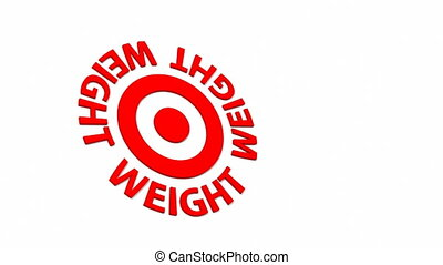 Weight Target - Target and dart with circular text. Part of...